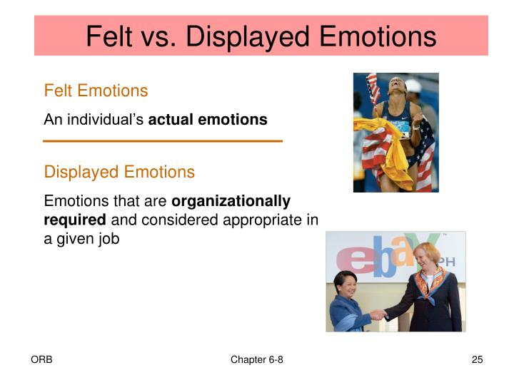 Felt vs. Displayed Emotions