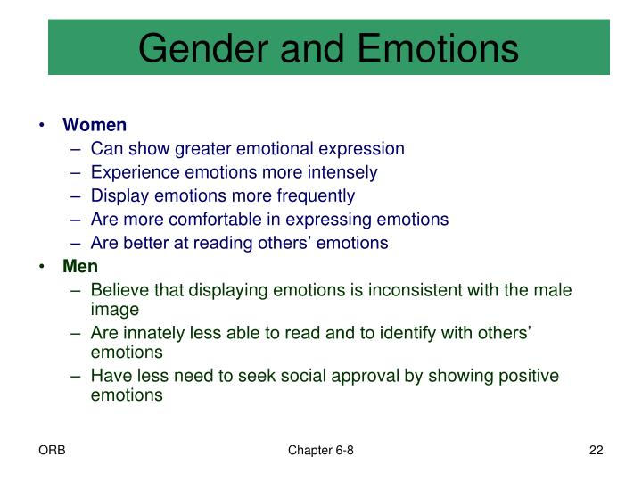 Gender and Emotions