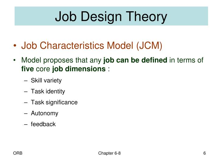 Job Design Theory