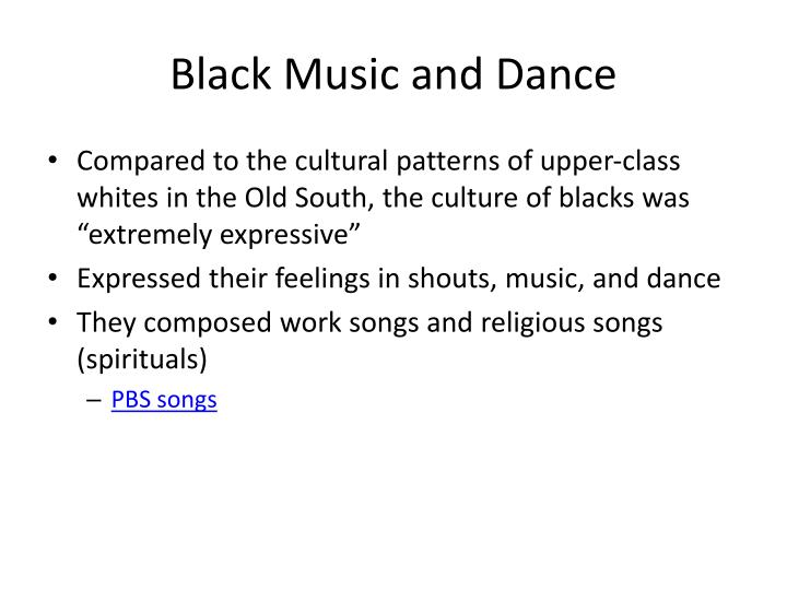 Black Music and Dance