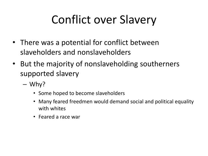 Conflict over Slavery