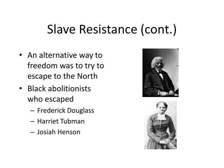 Slave Resistance (cont.)