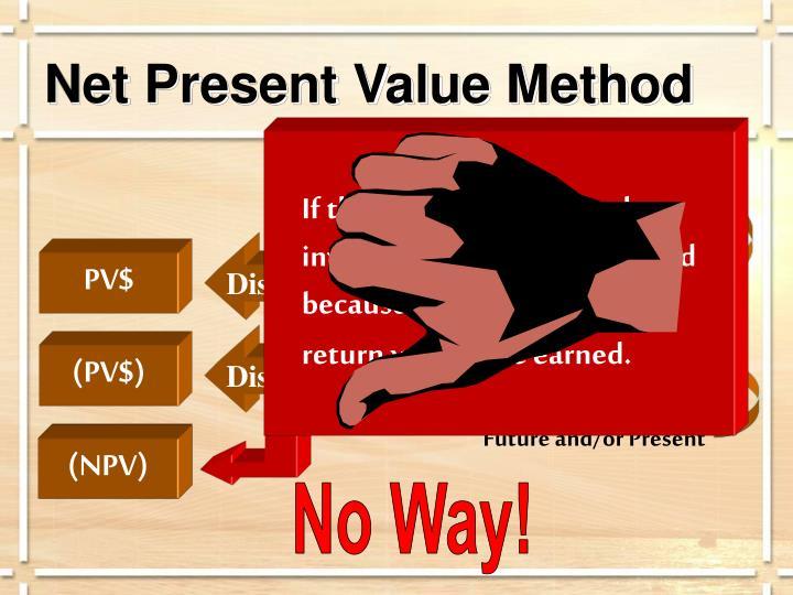 Net Present Value Method