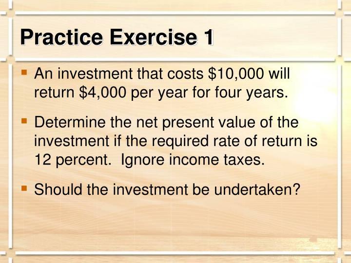 Practice Exercise 1