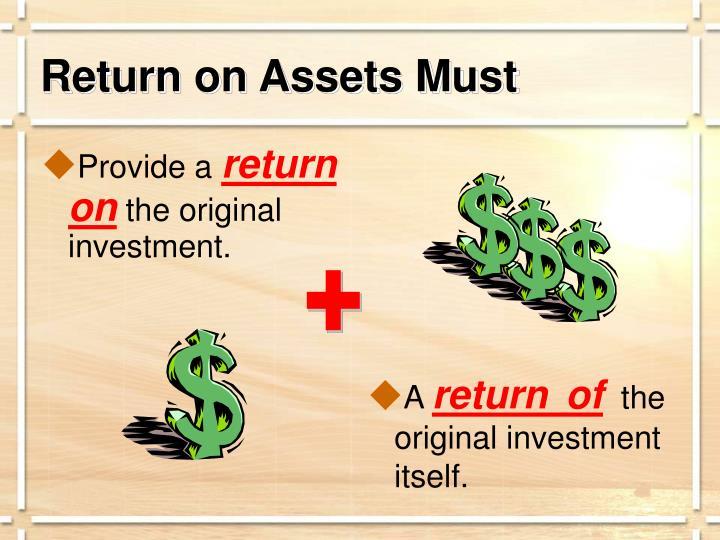 Return on Assets Must