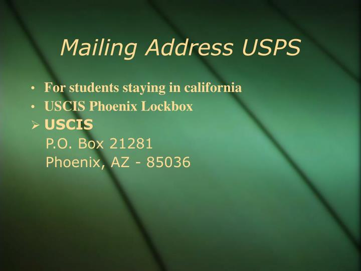 Mailing Address USPS