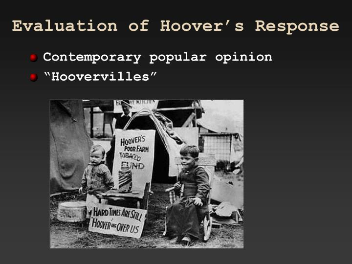 Evaluation of Hoover's Response