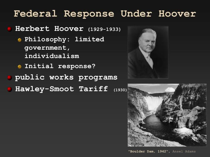 Federal Response Under Hoover