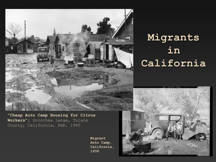 Migrants in California