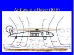 airflow at a hover ige