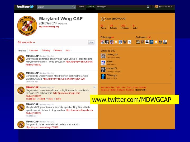 www.twitter.com/MDWGCAP