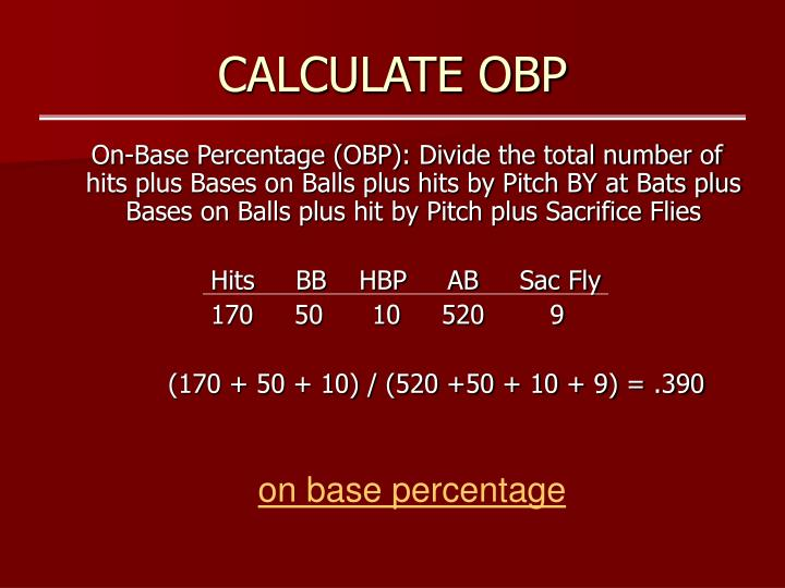 Calculate obp