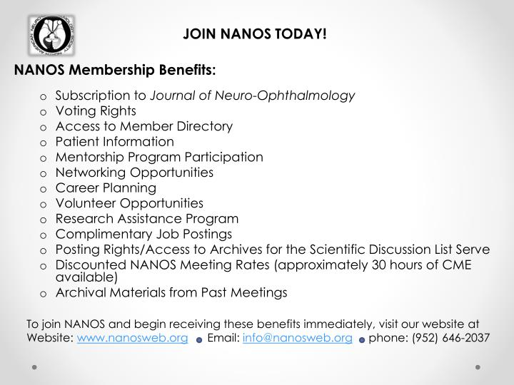 JOIN NANOS TODAY!