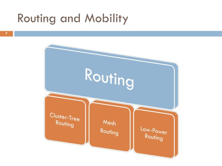 Routing and Mobility