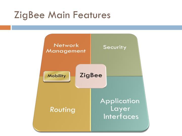 ZigBee Main Features