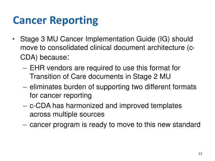 Cancer Reporting
