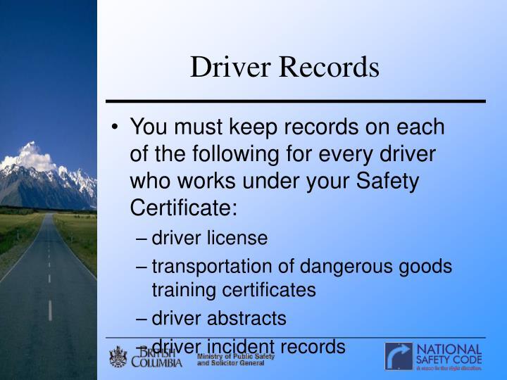 Driver Records
