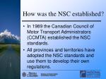 how was the nsc established