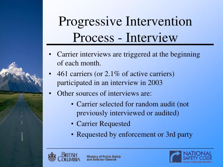 Progressive Intervention Process - Interview