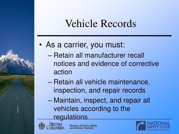 Vehicle Records