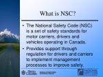 what is nsc