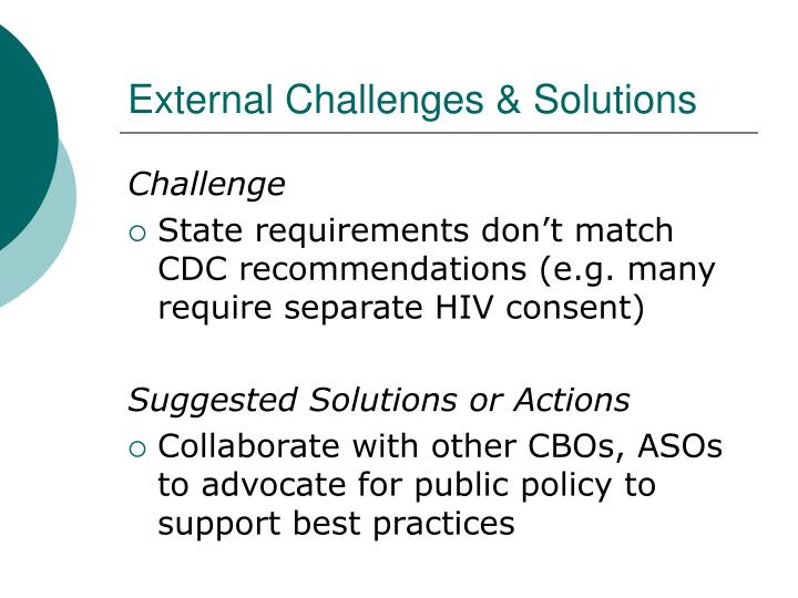 External Challenges & Solutions