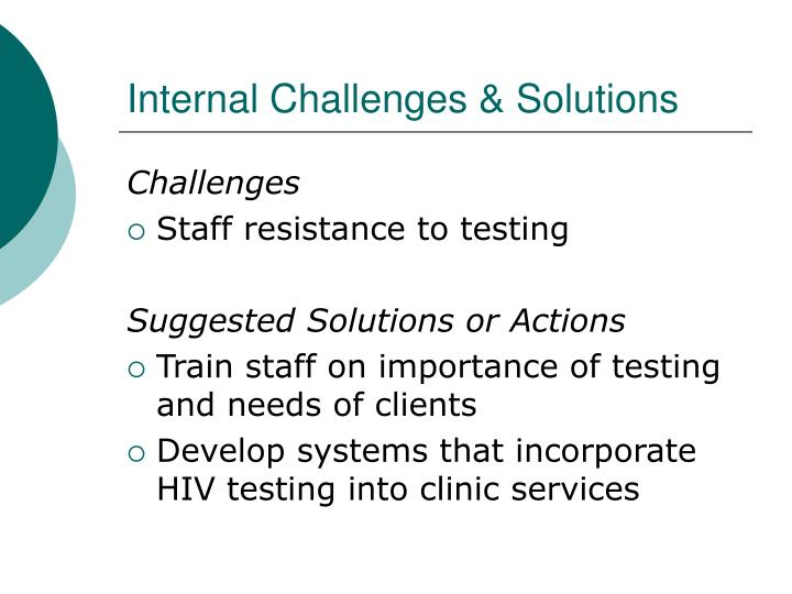 Internal challenges solutions1
