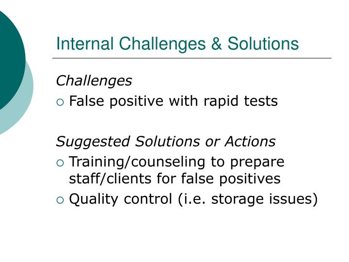 Internal Challenges & Solutions