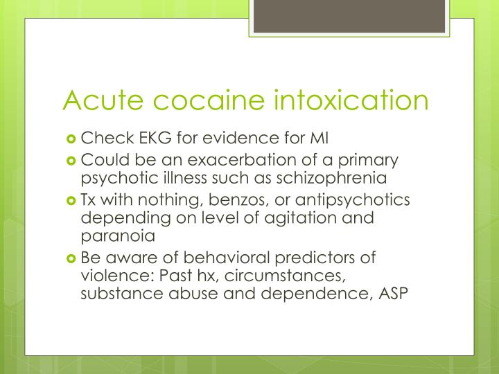 Acute cocaine intoxication
