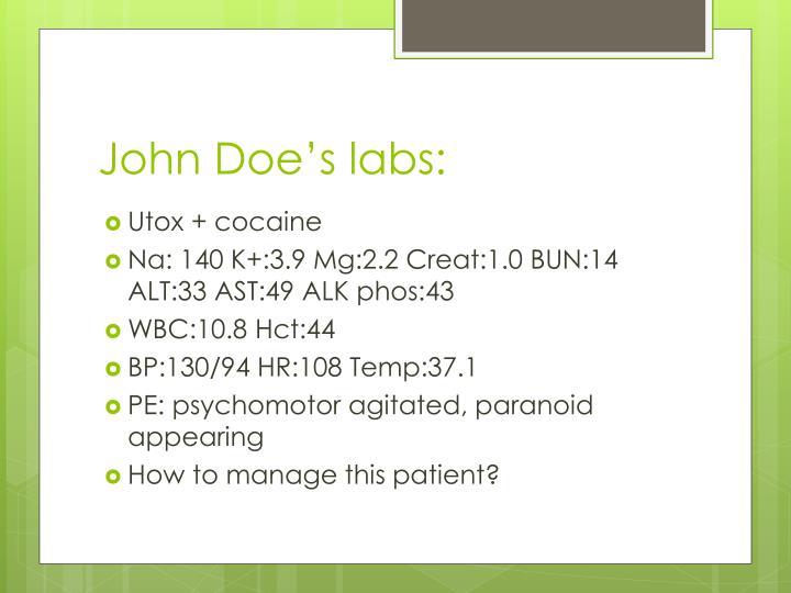 John Doe's labs: