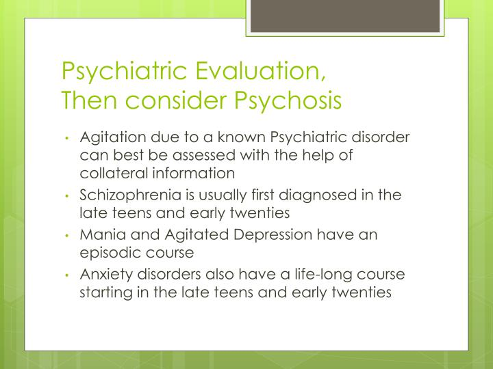 Psychiatric Evaluation,