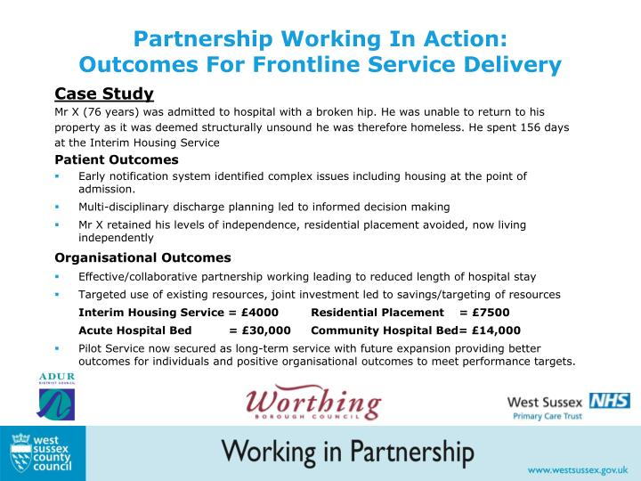 Partnership Working In Action: