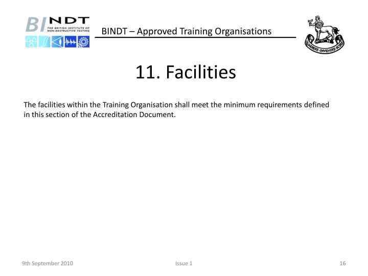 11. Facilities