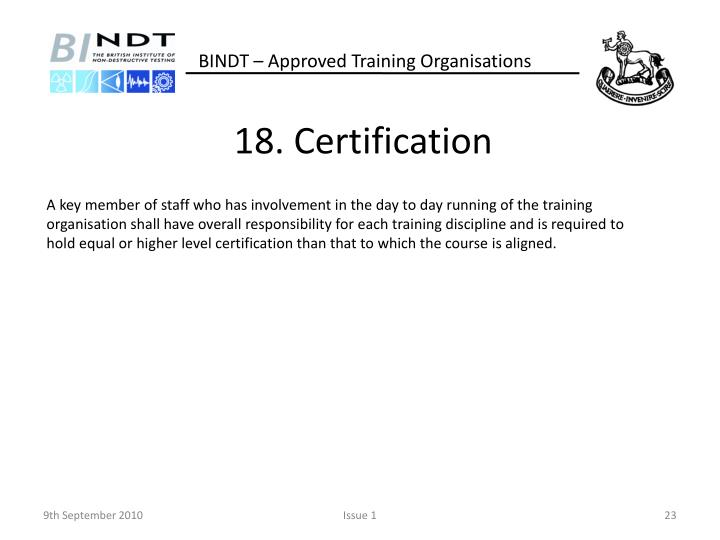 18. Certification
