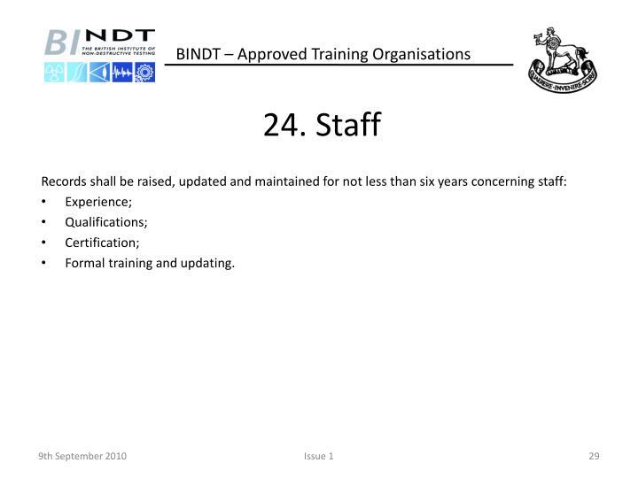 24. Staff