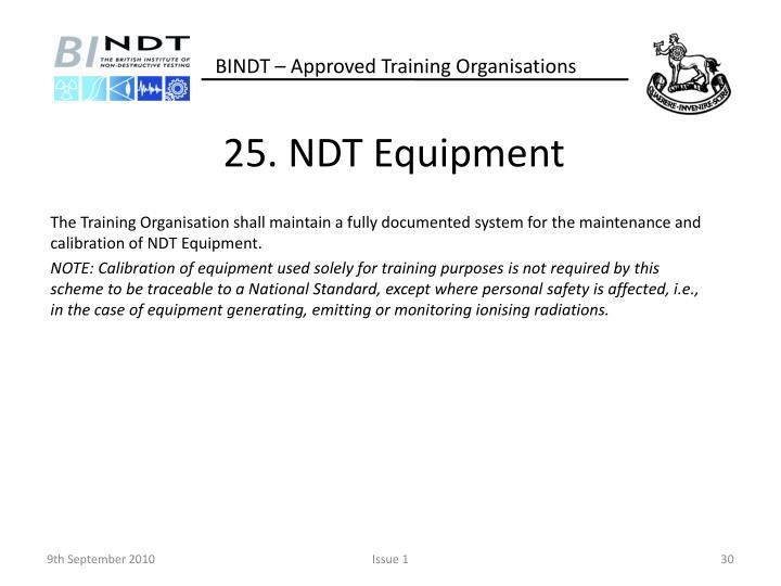 25. NDT Equipment