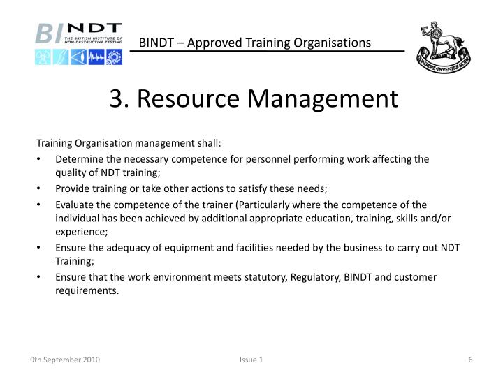 3. Resource Management