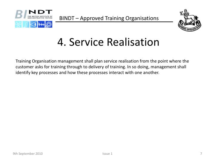 4. Service Realisation