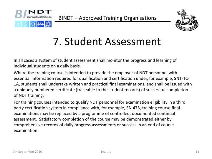 7. Student Assessment