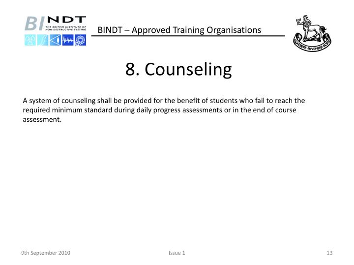 8. Counseling