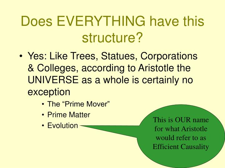 Does EVERYTHING have this structure?