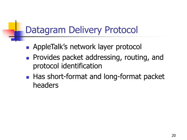 Datagram Delivery Protocol