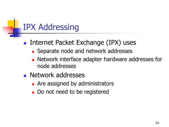 IPX Addressing