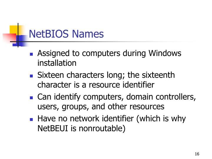 NetBIOS Names