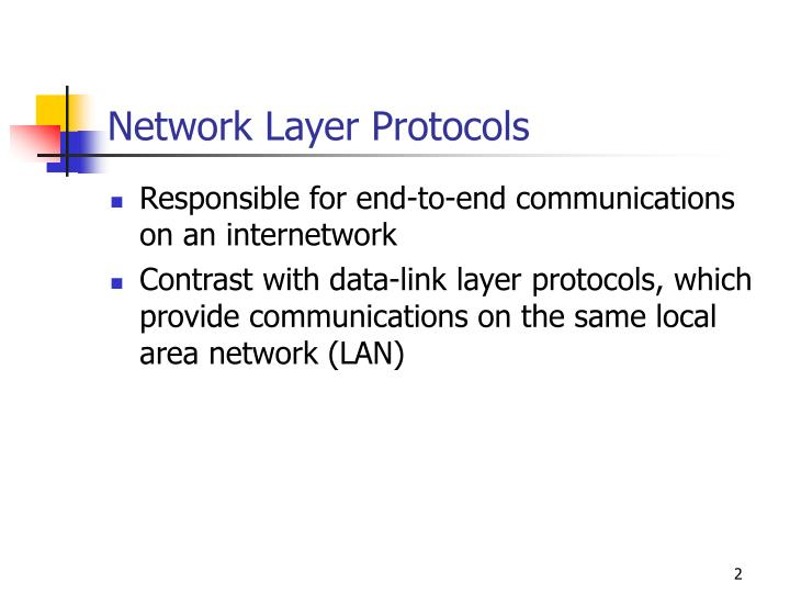 Network Layer Protocols