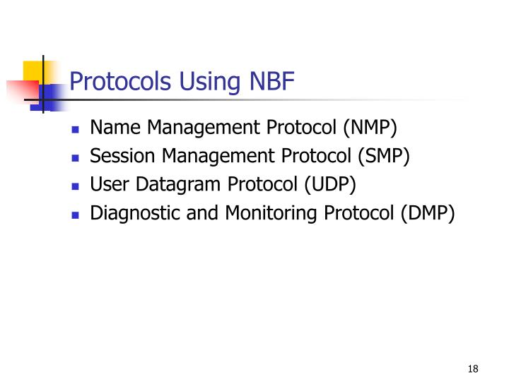 Protocols Using NBF