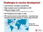 challenges to vaccine development