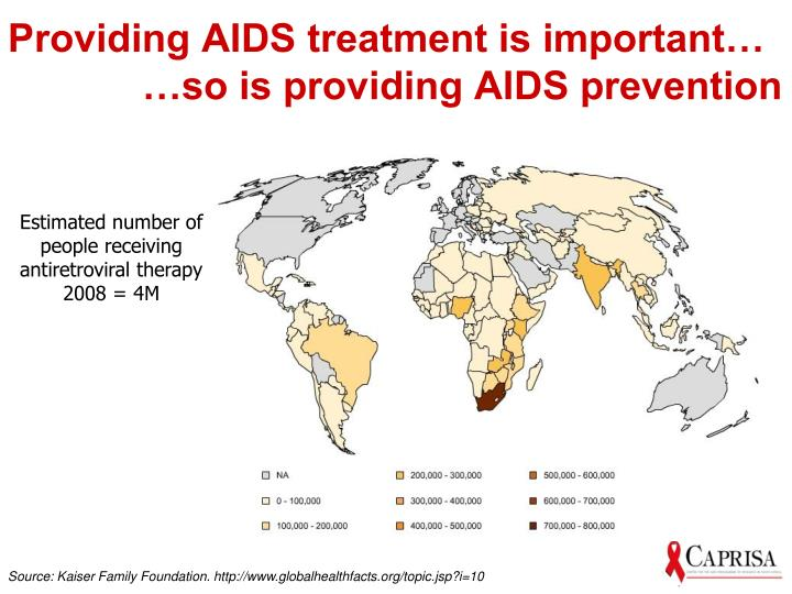 Providing AIDS treatment is important…