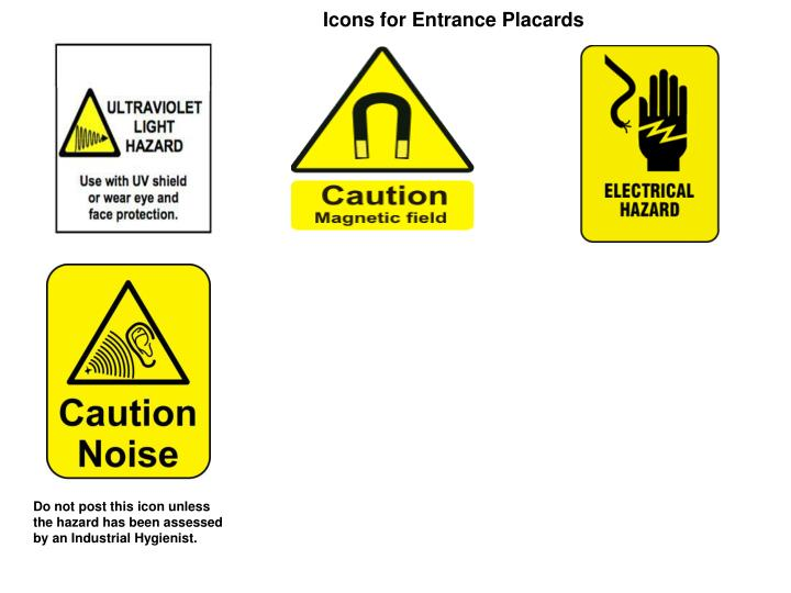 Icons for Entrance Placards