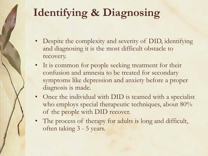 Identifying & Diagnosing